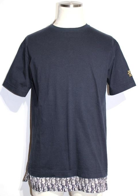 Dior ディオール Tシャツ メンズXS ネイビー コットン 923J631W8541 【200】