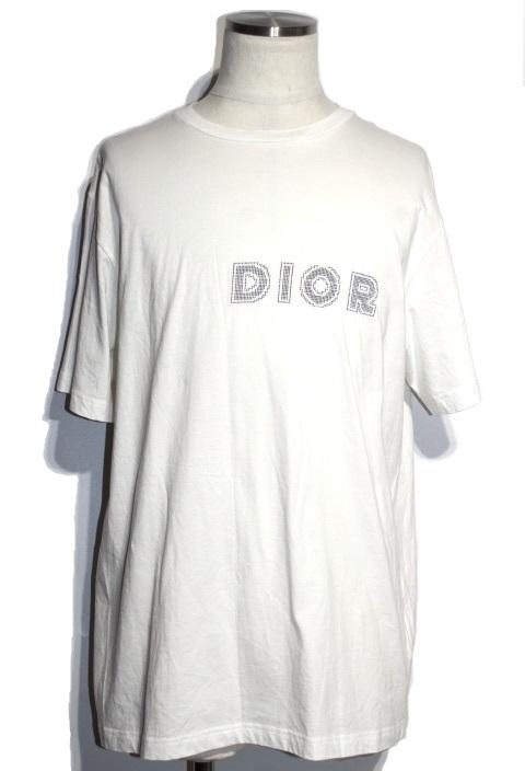 Dior ディオール Tシャツ メンズXL ロゴ ホワイト コットン 923J611A0447 【200】