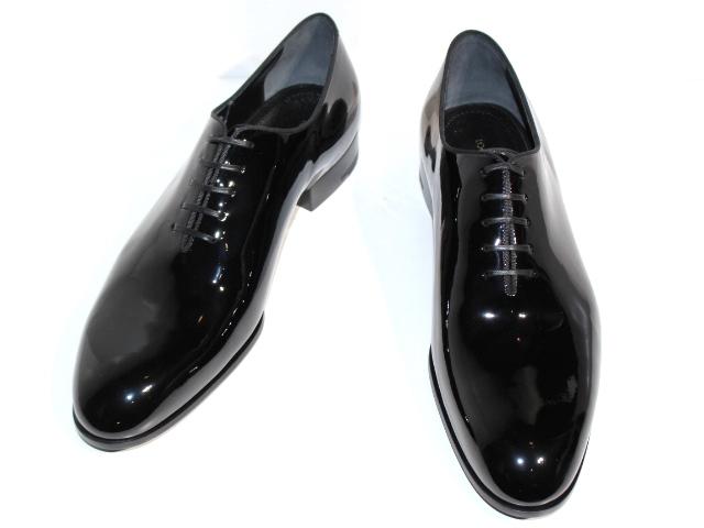 LOUIS VUITTON ルイ・ヴィトン 革靴 ビジネスシューズ メンズ8 約26.5cm ブラック パテント 【200】