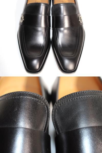 GUCCI グッチ 革靴 ビジネスシューズ メンズ8 約27cm ブラック レザー 407295 【200】 image number 2