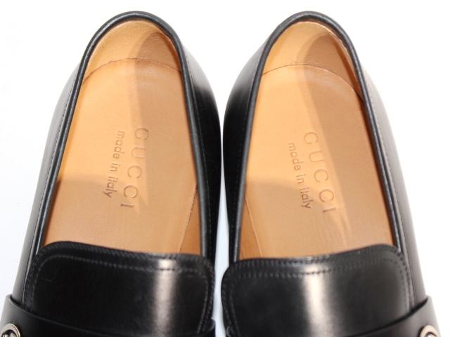 GUCCI グッチ 革靴 ビジネスシューズ メンズ8 約27cm ブラック レザー 407295 【200】 image number 3