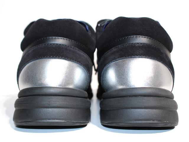 CHANEL シャネル スニーカー メンズ41 ブラック ネイビー スエード ベロア レザー 【200】 image number 3
