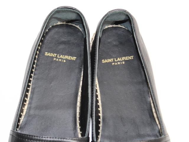 SAINT LAURENT サンローラン エスパドリーユ レディース37 約24cm ブラック レザー CR458573【200】 image number 3
