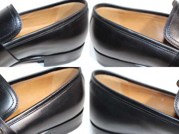 GUCCI グッチ 革靴 ビジネスシューズ メンズ8 約27cm ブラック レザー 407295 【200】 image number 5
