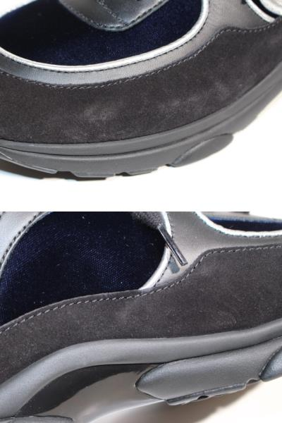 CHANEL シャネル スニーカー メンズ41 ブラック ネイビー スエード ベロア レザー 【200】 image number 6