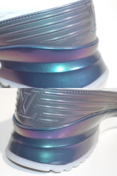 LOUIS VUITTON ルイ・ヴィトン スニーカー メンズ7 約26cm ホワイト ファブリック 【200】 image number 6