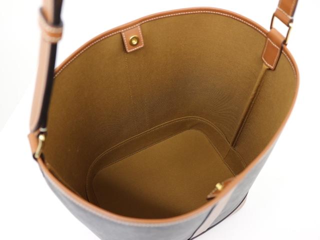 CELINE セリーヌ ミディアム バケット トリオンフキャンバス ブラウン PVC レザー 191132 【200】 image number 2
