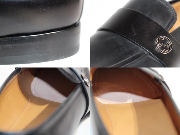 GUCCI グッチ 革靴 ビジネスシューズ メンズ8 約27cm ブラック レザー 407295 【200】 image number 7