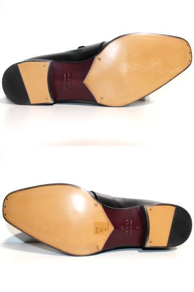 GUCCI グッチ 革靴 ビジネスシューズ メンズ8 約27cm ブラック レザー 407295 【200】 image number 8