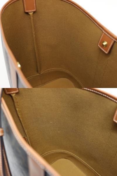 CELINE セリーヌ ミディアム バケット トリオンフキャンバス ブラウン PVC レザー 191132 【200】 image number 1