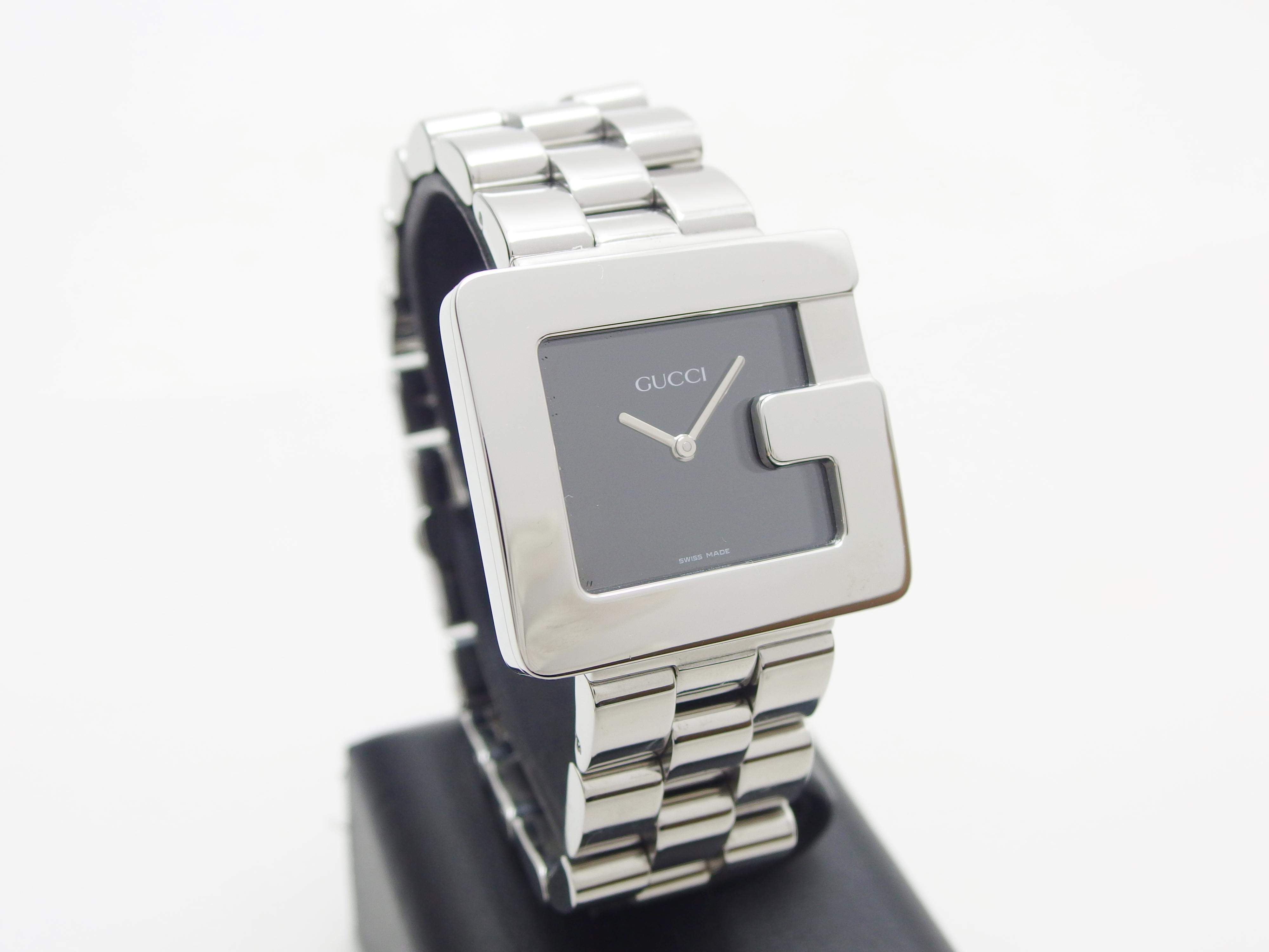 GUCCI グッチ 腕時計 メンズ クオーツ SS 黒文字盤 【435】