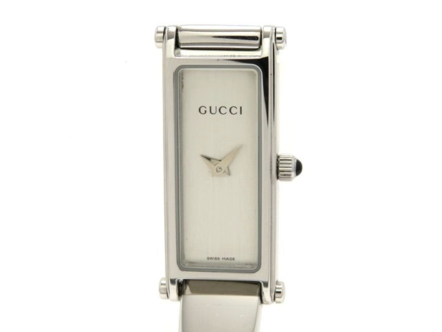 GUCCI グッチ 女性用腕時計 1500L ステンレス シルバー文字盤 クオーツ 電池式 【474】
