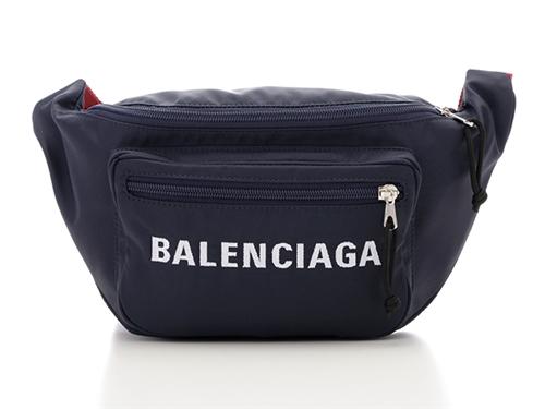 BALENCIAGA バレンシアガ ウエストバッグ 533009 ナイロン ネイビー レッド 【432】