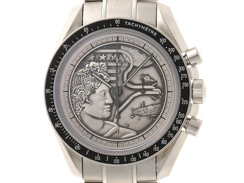 OMEGA オメガ スピードマスター プロフェッシュナル アポロ17号 40周年記念 311.30.42.30.99.002 SS 2015年9月並行 シルバーレリーフ文字盤 メンズ 手巻き 世界1972本限定 【436】