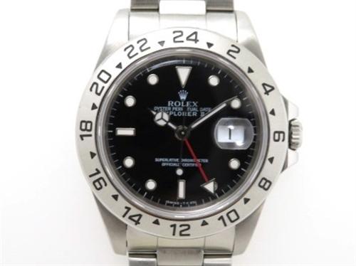 ROLEX 時計 エクスプローラー2 16570 T番 トリチウム オートマチック 黒文字盤 カレンダー機能 メンズ時計 ステンレススチールSS 【433】
