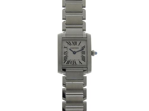 Cartier カルティエ タンクフランセーズSM W51008Q3 SS ホワイト文字盤 レディース クオーツ 【436】 image number 0