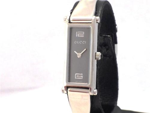 GUCCI グッチ 1500L レディース クォーツ(電池式)時計 SS グレー文字盤 【410】
