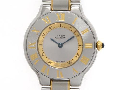 Cartier カルティエ マスト21 マストヴァンティアン クオーツ ステンレス ゴールド 【474】