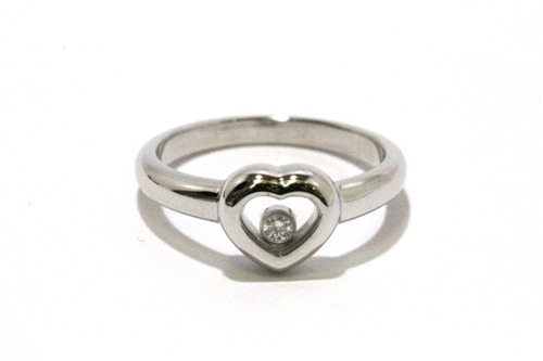 Chopard 貴金属・宝石 ハッピーダイヤモンド リング ホワイドゴールド ダイヤモンド 約5g 約11.5号 SS【472】