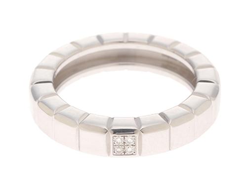 Chopard ショパール 貴金属 宝石 アイスキューブ リング 750WG(ホワイトゴールド) ダイヤモンド 7.6g 10号【473】