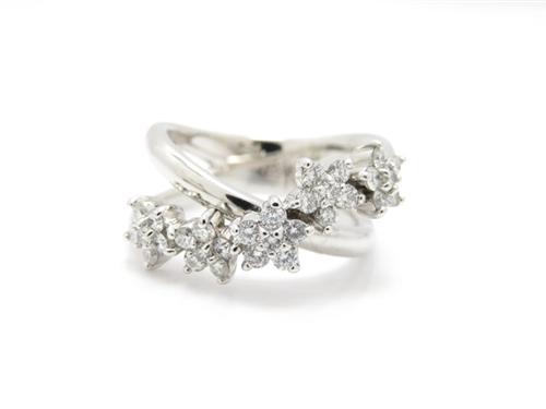 Ponte Vecchio ポンテヴェキオ リング 指輪 K18 ホワイトゴールド ダイヤモンド 11号 【474】