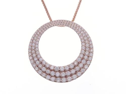 JEWELRY ノンブランドジュエリー ダイヤモンド ネックレス K18PG D3.00 10.5g【460】