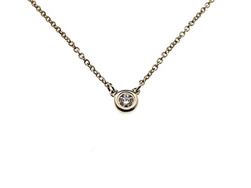 TIFFANY&CO ティファニー バイザヤードネックレス ダイヤモンド シルバー925 1.6g【430】