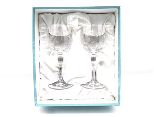 TIFFANY&CO ティファニー ワイングラス フローレット クリスタル【430】