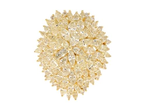 JEWELRY ノンブランド 貴金属・宝石 リング K18イエローゴールド ダイヤモンド4.79ct 0.16ct 11号 13.4g 【205】 image number 0