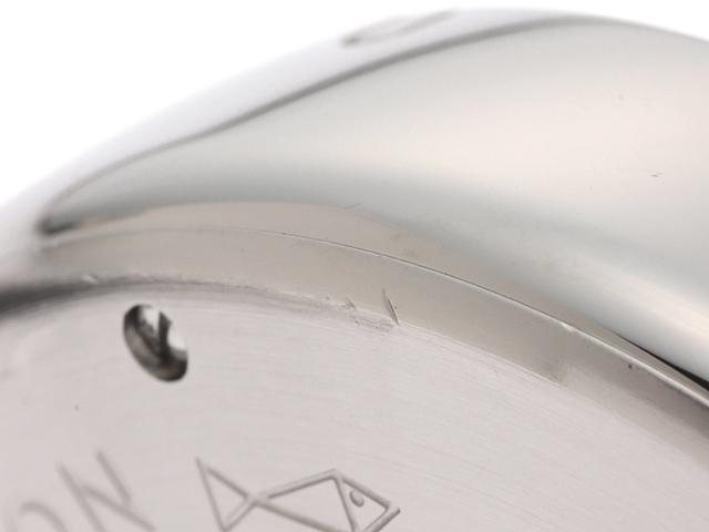LOUIS VUITTON ルイ・ヴィトン 時計 タンブール GMT Q1132 シルバー文字盤 メンズ オートマチック 自動巻き SS/革【430】 image number 6
