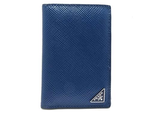 PRADA プラダ カードケース サフィアーノ ブルー 青 水色 2MC101 【474】