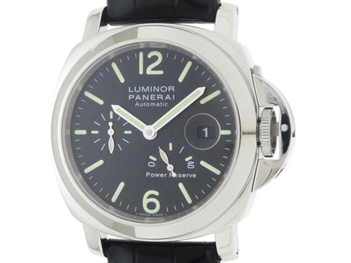 PANERAI 時計 パネライ ルミノール パワーリザーブ PAM00090 メンズ 自動巻き ステンレス SS 革 【433】