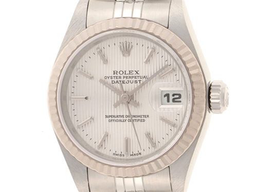 F番 ROLEX 時計 ロレックス デイトジャスト レディース オートマチック デイトジャスト 79174【430】