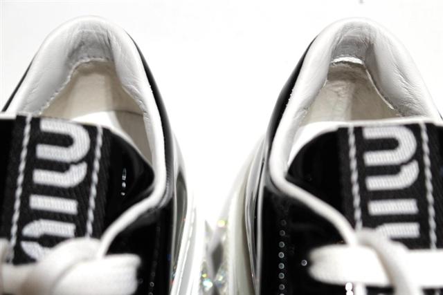 miu miu ミュウミュウ スニーカー レディース 35 ブラック パテント 現行モデル 定価¥\102,300 5E643C XZYF0002 【432】 image number 7