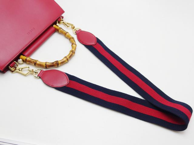 GUCCI グッチ 2WAYバッグ ニムフェア バンブー 459076 レッド レザー 【435】 image number 4