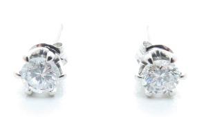 ノンブランドジュエリー ダイヤモンドピアス プラチナ900 ダイヤモンド0.16ct/0.17ct 全体重量約0.7g 【205】 image number 0