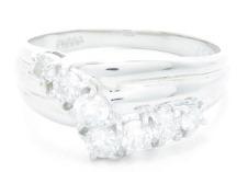 ノンブランドジュエリー ダイヤモンドリング プラチナ850 ダイヤモンド0.57ct 全体重量約3.9g 12号 【205】