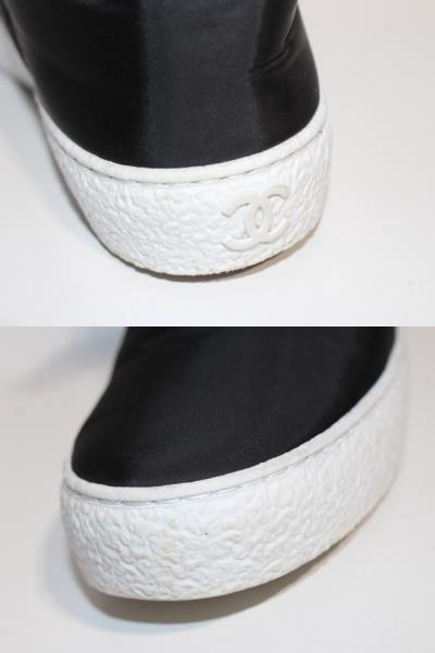 CHANEL シャネル スニーカー レディース37 約23.5cm ブラック ファブリック G31715 【200】 image number 5
