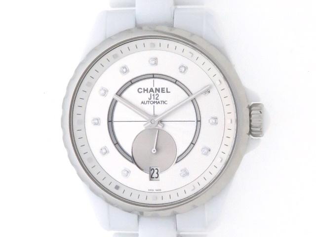 CHANEL シャネル J12 CE シルバー11Pダイヤ文字盤 メンズ 自動巻き 100m防水 【436】