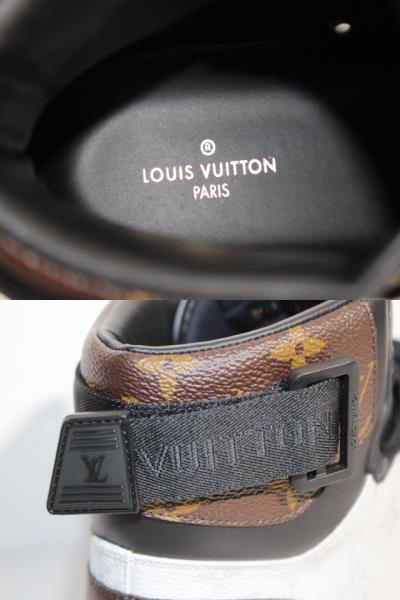 LOUIS VUITTON ルイヴィトン リヴォリ・ライン スニーカー メンズ9ハーフ 約28cm マルチ ホワイト PVC モノグラム 2020年 定価:¥122,100- 1A44VQ【200】 image number 8