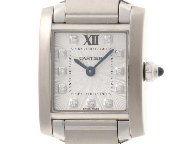 Cartier カルティエ タンクフランセーズSM 11PD クォーツ レディース WE110006 【430】