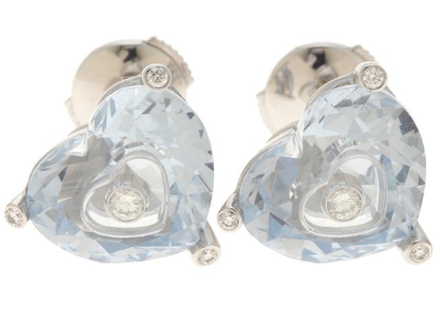 Chopard ショパール ソーハッピー ホワイトゴールド ダイヤモンド ピアス WG D 6.4g 箱・ギャラ付き【430】2120400057201