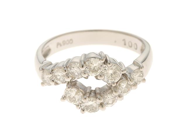 JEWELRY ノンブランドジュエリー PT900 ダイヤモンド1.00 5.2g #13【431】