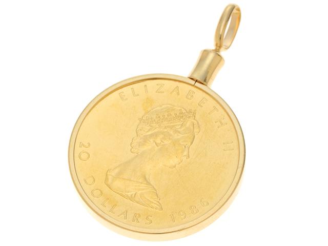 JEWELRY ノンブランドジュエリー トップ コイン K18YG K24YG イエローゴールド 17.7g【430】2141100410868