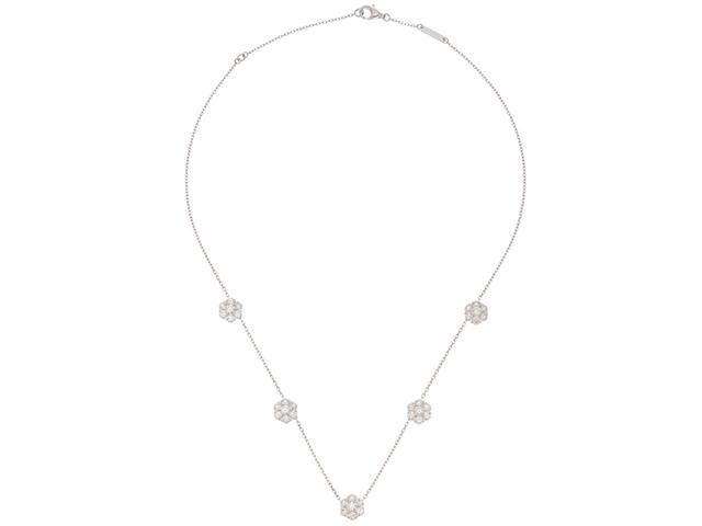 Van Cleef & Arpels  ヴァンクリーフ&アーペル フルーレット ネックレス 5フラワー スモールモデル WG ダイヤモンド 重さ6.4g 【431】