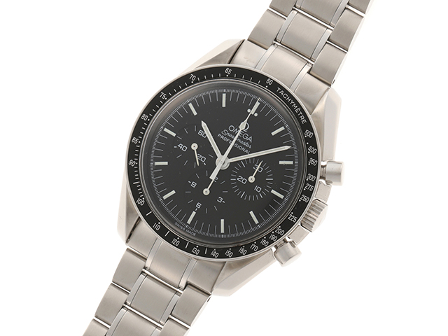 1999年8月並行ギャラ OMEGA オメガ 時計 3560.50 スピードマスター・アポロ11号30周年記念 メンズ ステンレス 手巻き 2143200385114【430】 image number 1