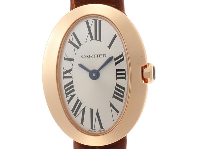 Cartier カルティエ ミニベニュワール W8000017 PG ピンクゴールド 革ベルト クォーツ 【460】