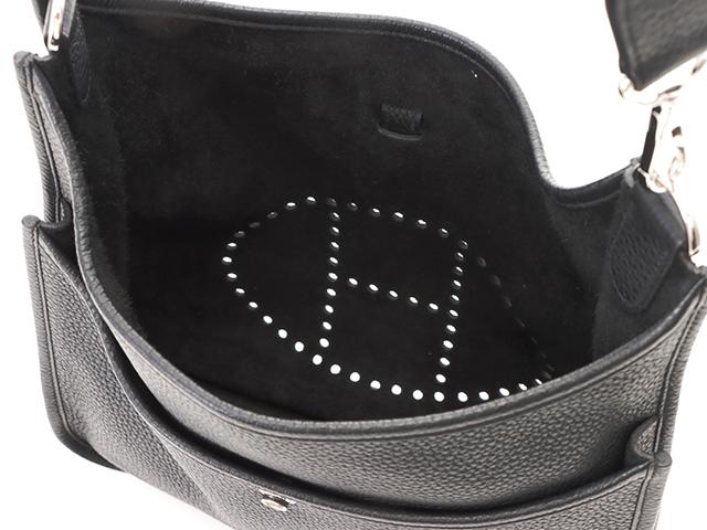 HERMES エルメス エヴリンⅢPM ブラック/シルバー金具 □R刻印 2014年製造 トリヨンクレマンス【471】