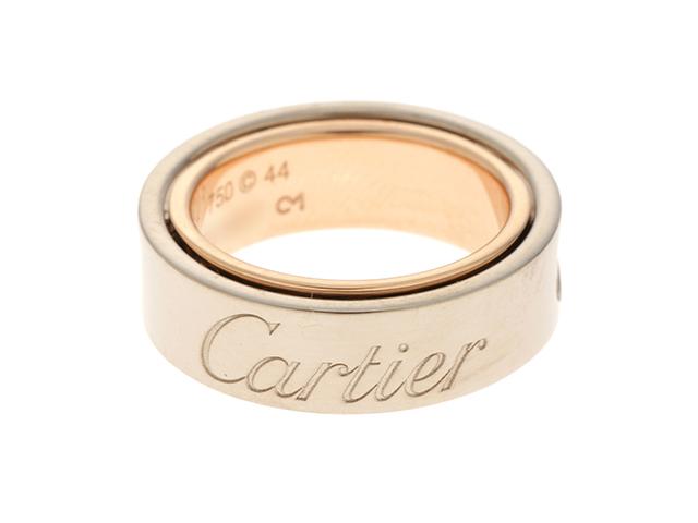 Cartier カルティエ 貴金属・宝石 リング ラブシークレットリング K18 ホワイトゴールド ピンクゴールド #44(日本サイズ4号) 9.2g【473】