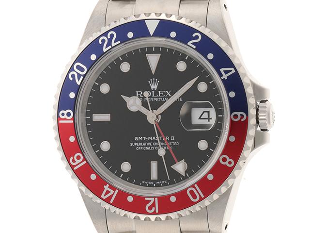 ロレックス ROLEX 時計 GMTマスター2 16710 P番 ステンレス ブラック文字盤 両回転ベゼル 自動巻き 100M生活防水 NS【472】